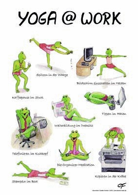 Poster DIN A4: Yoga at work 3