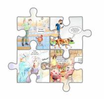 Claudia Fechner: Die Sarsmission - einmal Mensch und zurück: Kurzgeschichte mit Corona-Cartoons 4